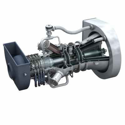 A MAN Diesel & Turbo MGT series gas turbine [source: MAN Diesel & Turbo]