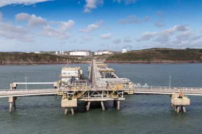 The UK's South Hook LNG regasification terminal, near Milford Haven in West Wales