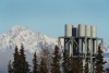 Exhaust stacks at the 171 MW Eklutna power plant