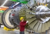 Assembly of the SGT5-8000H at the gas turbine plant in Berlin