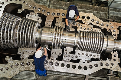 SST-800 steam turbine during final assembly in Goerlitz.