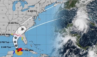 Hurricane Michael path tracker