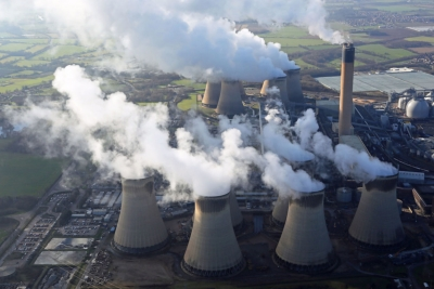 Drax Power Station in North Yorkshire, England.