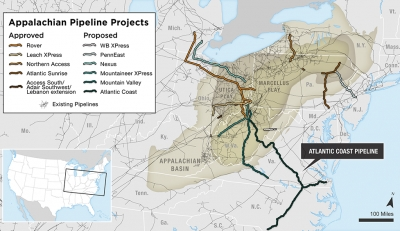 """Inopportune times"" for investing in Appalachia pipeline projects"
