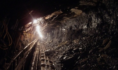 View into a coal mine