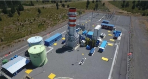 Los Guindos open-cycle power plant in central Chile.