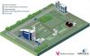 Render of synthetic biogas production in a Power-to-Gas facility