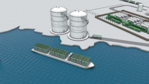 Orka Energy render of the proposed liquefaction plant