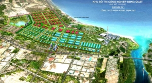 Plan of Dung Quat Industrial Town where Sembcorp's power station will be situated