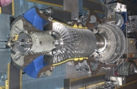 GE 9FB gas turbine during assembly; source: GE Power & Water