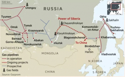 Gazprom gets ready to export 1 Tcm of gas to China over 30 years