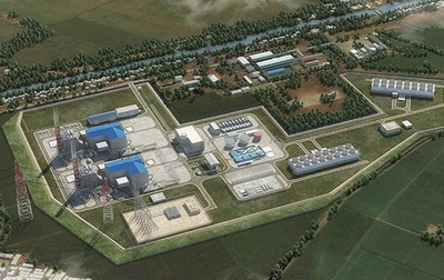 Render of the 1,760 MW Jawa-1 LNG-to-Power project