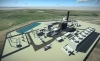 Rendering of Marlim Azul gas power plant.