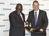 Nigeria's Federal Minister of Power, Prof. Bart Nnaji and Dr. Michael Suess, CEO of Siemens Energy; source: siemens.com