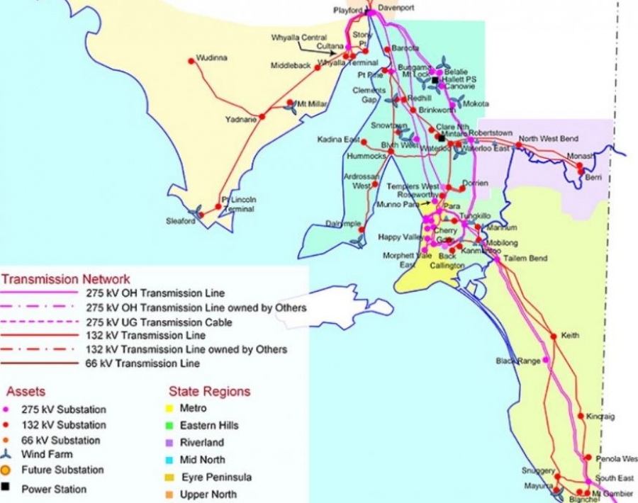 Australia Map Grid.South Australia Invites Bids For Energy Storage Projects Gas To