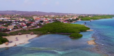 Bird's eye view of Aruba