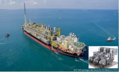 FPSO vessel, similar to the one use for Eni's Mexico Area 1