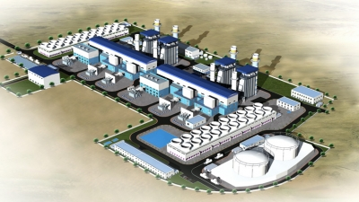 Render of the completed Sohar-3 plant