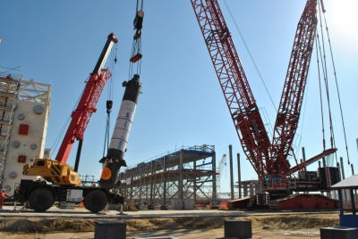 Construction is ongoing for Amur GPP