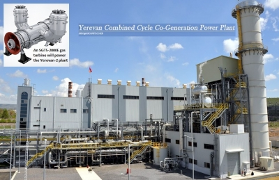 An SGT5-2000E gas turbine will be at the core of the Yerevan-2 power plant
