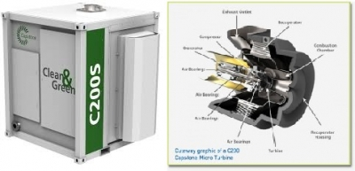 Capstone supply iCHP microturbine to commercial building in the UK