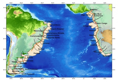 South Atlantic margin basins. Source:Getech