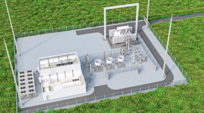 Render of SVC PLUS, a Siemens-built solution for voltage regulation in the power grid.