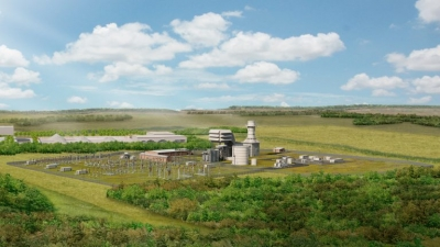 Rendering of 299-MW Millbrook Power Station.