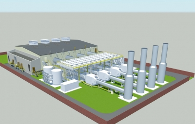 Rendering of Statera's new engine-driven power plants