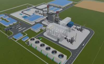 Render of Eranove's Atinkou CCGT project