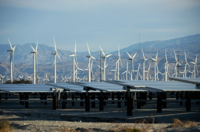 Solar and wind farm near Palm Springs, California