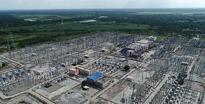 View of Bherama HVDC back-to-back link