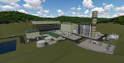 Render of Harrison County CCGT