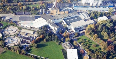 Bird's eye view of Palm's paper manufacturing site in Aalen