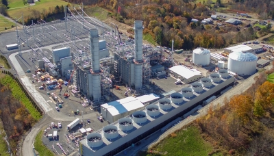View of Fairview Energy Center near Johnstown, Pennsylvania.