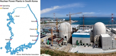 Nuclear power plant being built near Gori, in southwestern South Korea.