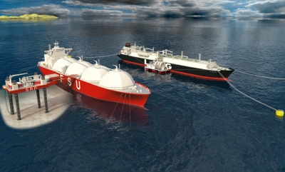 Render of LNG import solution by 7 Seas