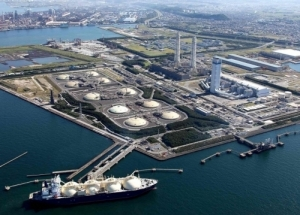 LNG tanker berthing next to Tepco's Futtsu gas power plant