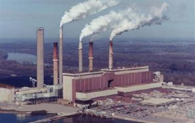 Gibson Generating Station in Montgomery Township, Indiana.
