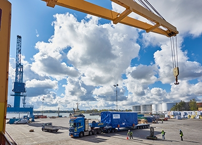 Power plant equipment from three continents is shipped to Bolivia