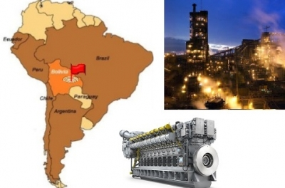 Ten MAN gas engines (100 MW) to provide electricity for Bolivian mine