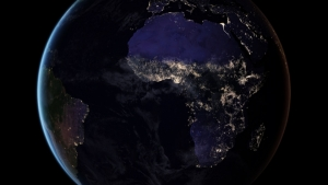 Night sky over the African continent in 2030, based on the WEO model