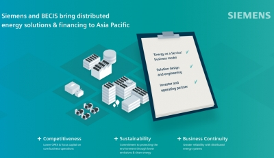 Siemens invests in BECIS to roll out distributed energy in Asia Pacific