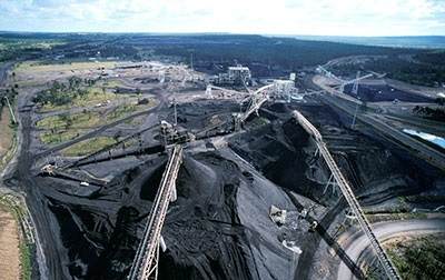 Rollestone open-cast coal mine in the Bowen Basin in Queensland, Australia