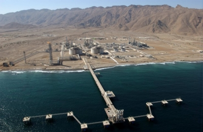 Bird's eye view of the Oman LNG plant